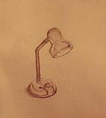畫作~♡:檯燈