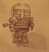 畫作~♡:放在書桌上的機器人