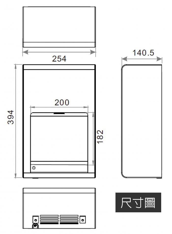 樂奇 HD-150ST1 / ST2:尺寸圖.jpg