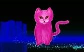 Painter 8 動物練習:桃紅貓.JPG