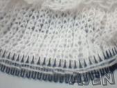 毛線編織:編織°髮箍編織器。