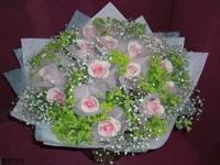 鐵塔尼玫瑰滿天星黃河花束 - 情人節花束