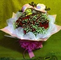 99朵紅玫瑰喬巴花束設計 - 情人節花束