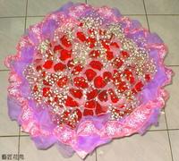 108朵紅玫滿天星設計 - 情人節花束