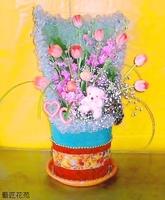 粉鬱金香紫羅蘭滿天星花禮設計 - 花禮設計