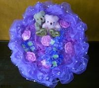 小熊愛心玫瑰精油皂設計花束束 - 手工玫瑰精油皂