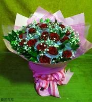22朵玫花束設計 - 情人節花束
