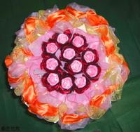 紅玫瑰精油手工皂花束 - 手工玫瑰精油皂