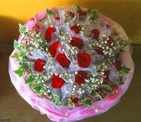 紅玫瑰長春藤花束設計 - 情人節花束