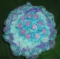 紫玫瑰精油皂花束 - 手工玫瑰精油皂