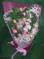 粉玫瑰粉桔梗花束 - 花束