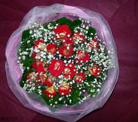 冰火玫瑰花束設計 - 情人節花束