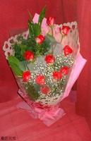 11朵雙色玫瑰花束 - 花束