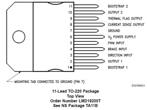 National Semiconductor LMD18200 (H-Bridge) @ 8051動手做[實作班