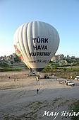 2009 熱氣球@Cappadocia (土耳其):出發囉!(從空中鳥瞰尚未升空的熱氣球)