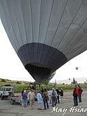 2009 熱氣球@Cappadocia (土耳其):加熱完成的熱氣球直立過程(承載藤籃完成翻轉)