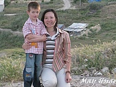 2009 Pammukalle不同的風光(土耳其):與小男孩合照