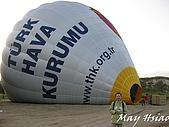 2009 熱氣球@Cappadocia (土耳其):與加熱中的熱氣球合照