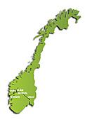 旅遊大夢:Norway in a nutshell ((挪萎縮影)旅遊路線圖