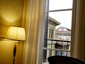 2015.2.28~3.8@義大利(DAY5):飯店吃早餐的餐廳窗口望去還有不錯的街景