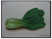 我的粉彩作品:20050704 青江菜