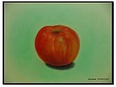 我的粉彩作品:20041129 蘋果