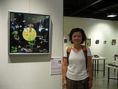 銀的架橋 - 2008日本沖繩:在自己的作品前留念
