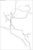 糖業鐵道地圖:南州糖廠鐵道分佈略圖