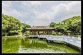 台北市士林區故宮博物院旁的『至善園』遊客稀少時常見藍鵲來戲水:故宮至善園30.jpg