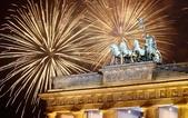 大千世界:德國柏林:煙花照耀下的勃蘭登堡