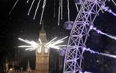 大千世界:倫敦眼和大本鍾同時燃放煙火